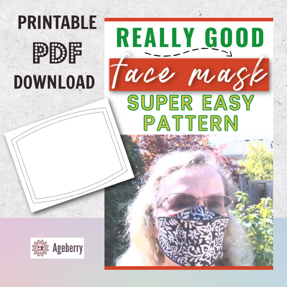easy face mask pattern and tutorial