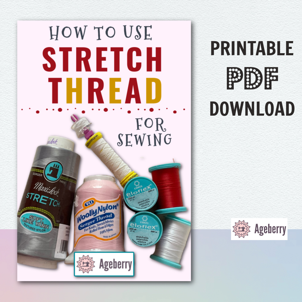 Stretch thread or sewing - printable guide