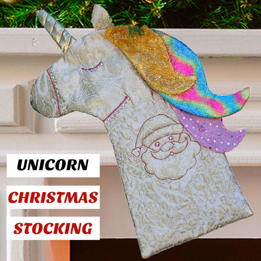 Christmas stocking Unicorn: pattern and tutorial