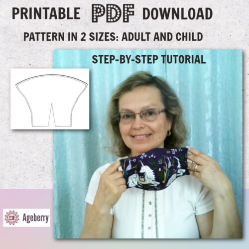 how to sew a face mask: tutorial and pattern