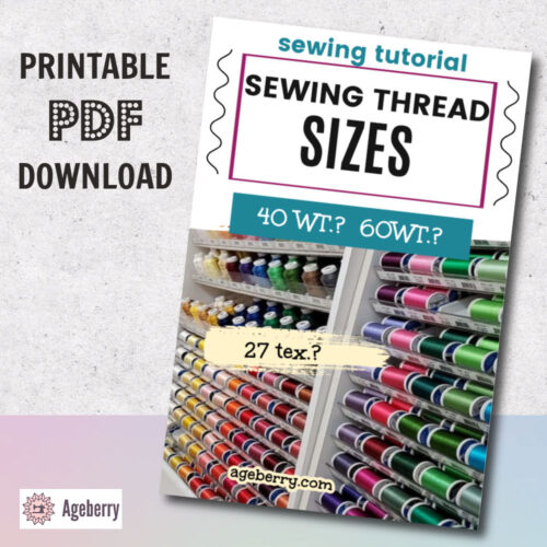 Sewing thread sizes: how to choose