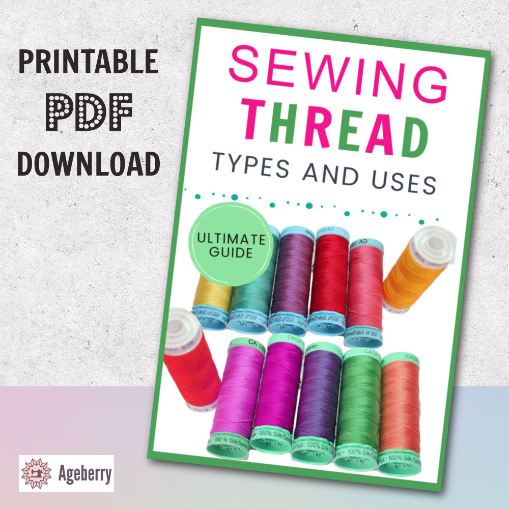 Sewing thread types and uses