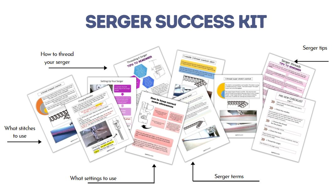 how to use a serger printable bundle