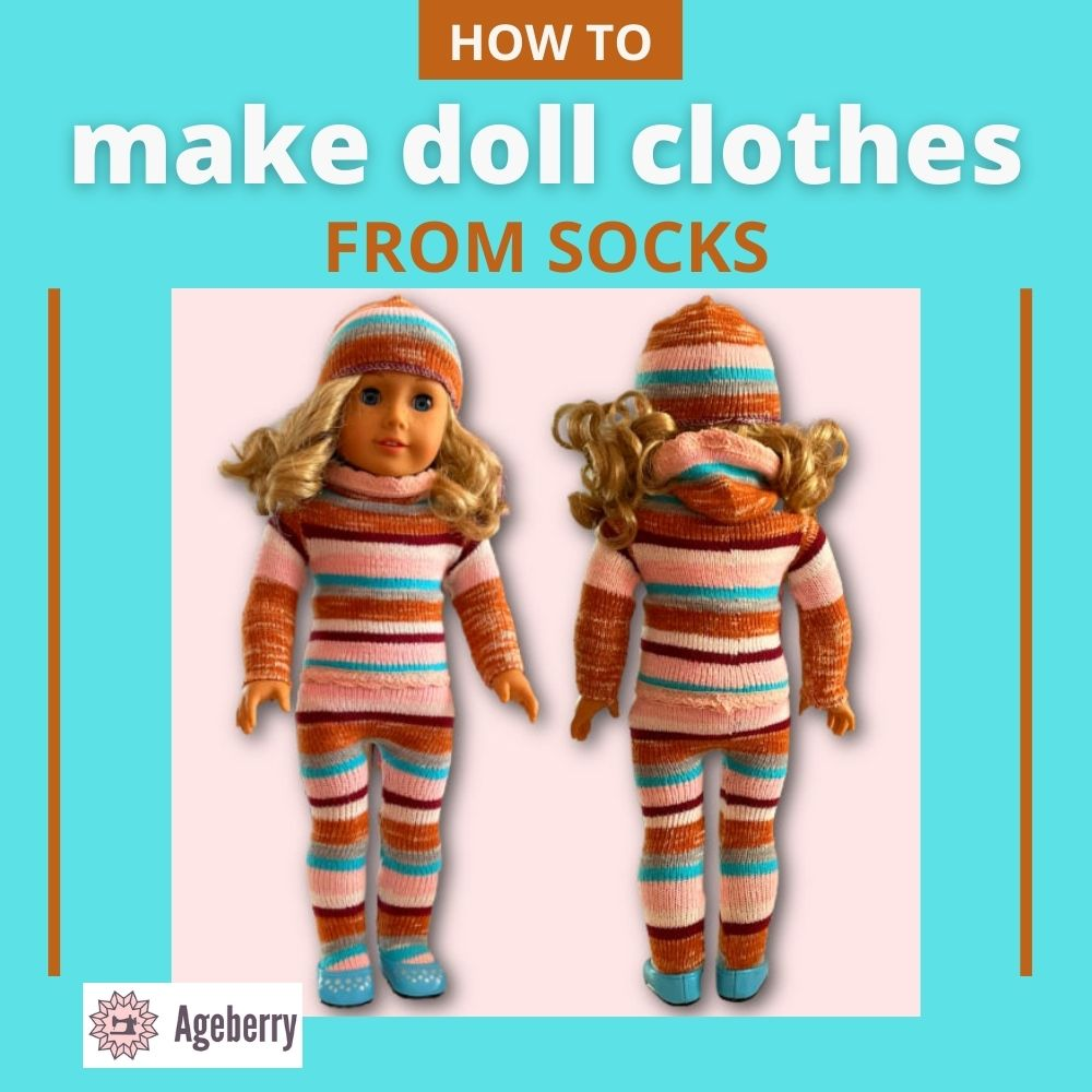 How to make American Girl doll clothes out of socks